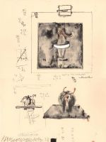Robert Rauschenberg: Untitled (Sketch for Monogram) Lithograph