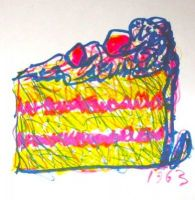 Claes Oldenburg Litho: Cake